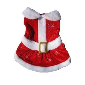PETS FIRST Mrs. Sant Claus Pet Dress Small